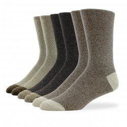 Smooth Crew Socks - 6 Pair Pack