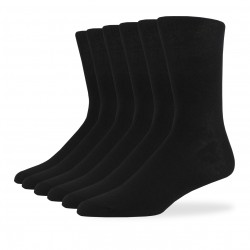 Smooth Knit Crew Socks - 6 Pair Pack