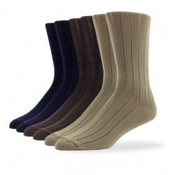 Wide Rib Socks - 6 Pair Pack